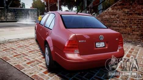 Volkswagen Bora para GTA 4 traseira esquerda vista