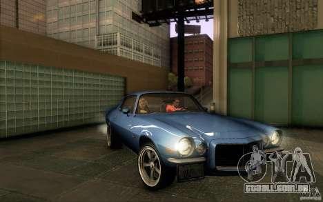 Chevrolet Camaro Z28 para GTA San Andreas vista inferior