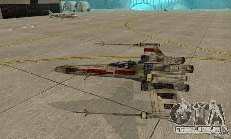 X-WING de Star Wars v1 para vista lateral GTA San Andreas