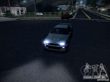 Nissan Skyline Z-Tune para GTA San Andreas vista traseira