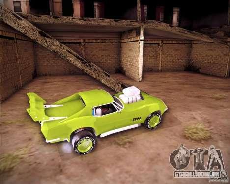 Chevrolet Corvette drag para GTA San Andreas vista direita