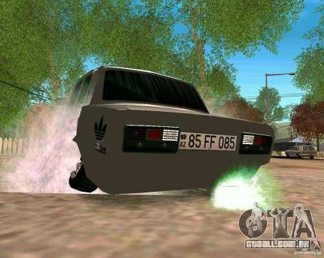 VAZ 2107 completo para GTA San Andreas vista direita