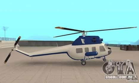 Mi-2 canais para GTA San Andreas traseira esquerda vista