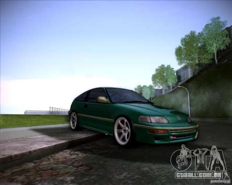 Honda Civic CRX JDM para GTA San Andreas vista inferior