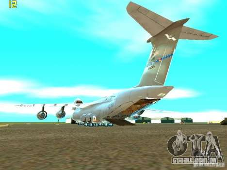 Lockheed C-5M Galaxy para GTA San Andreas esquerda vista