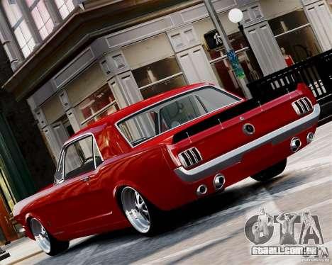 Ford Mustang GT MkI 1965 para GTA 4 traseira esquerda vista