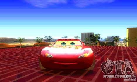 MCQUEEN from Cars para GTA San Andreas vista direita