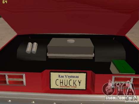 Chevrolet Nova Chucky para GTA San Andreas vista interior