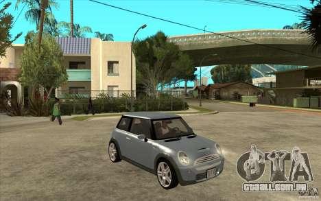 Mini Cooper - Stock para GTA San Andreas vista traseira