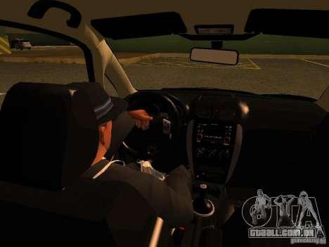 Suzuki SX-4 Hungary Police para GTA San Andreas vista superior