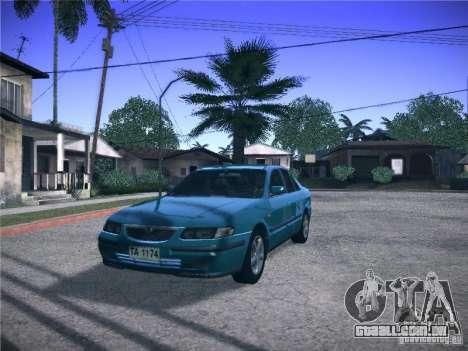 Mazda 626 GF 1999 para GTA San Andreas traseira esquerda vista