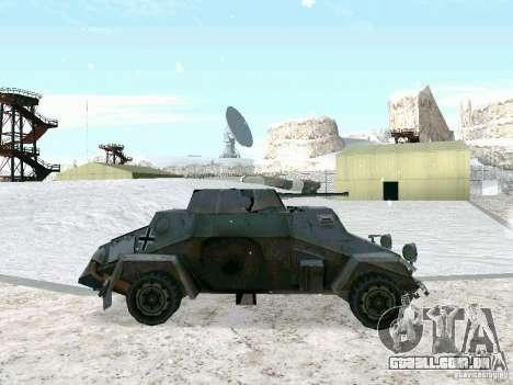 Transporte de pessoal blindados do jogo atrás da para GTA San Andreas esquerda vista