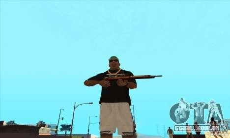 WEAPON BY SWORD para GTA San Andreas segunda tela