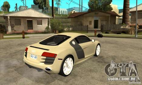 Audi R8 V10 5.2 FSI Quattro para GTA San Andreas vista direita