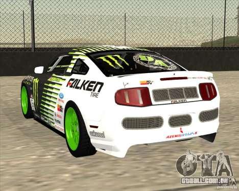 Ford Mustang GT 2010 Vaughn Gittin Jr para GTA San Andreas traseira esquerda vista
