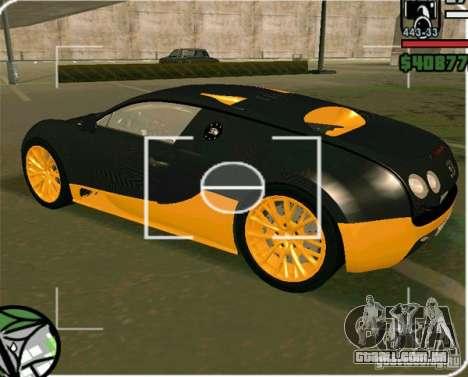 Bugatti Veyron Super Sport final para GTA San Andreas esquerda vista