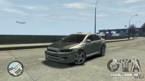Mitsubishi Lancer Evo X Drift para GTA 4 traseira esquerda vista
