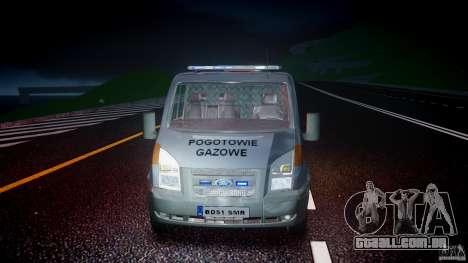 Ford Transit Usluga polski gazu [ELS] para GTA 4 vista superior