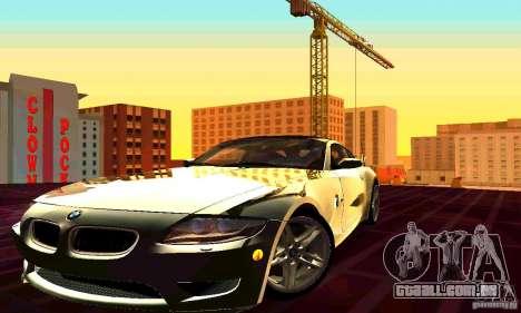 BMW Z4 E85 M para GTA San Andreas vista superior