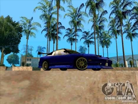 Nissan 240SX Drift Team para GTA San Andreas vista traseira