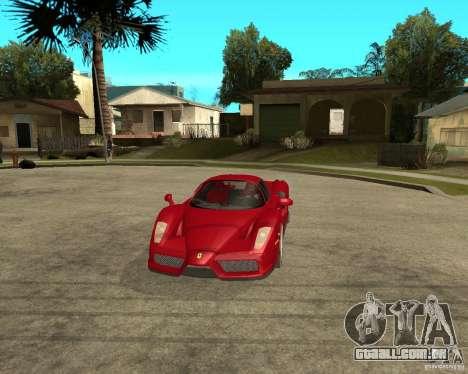 Ferrari Enzo para GTA San Andreas vista interior