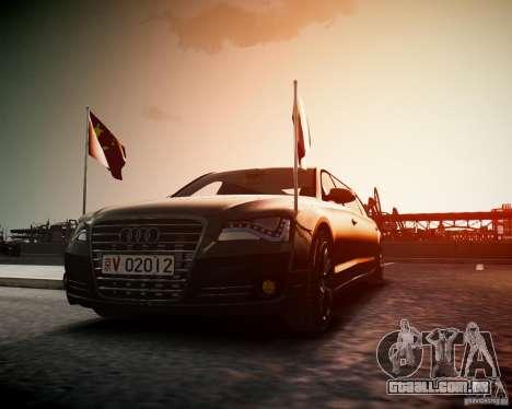 Audi A8 Limo para GTA 4 vista direita