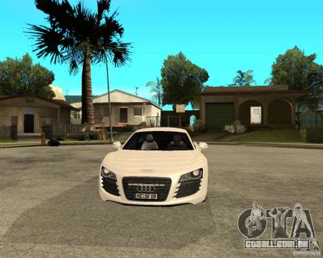 Audi R8 light tunable para GTA San Andreas vista traseira