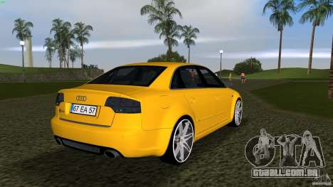 Audi RS4 para GTA Vice City vista direita
