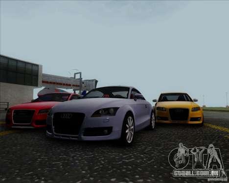 Audi TT para GTA San Andreas vista interior