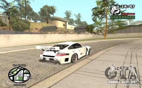 Porsche 911 Turbo S Tuned para GTA San Andreas esquerda vista