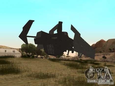 Vtol Crysis para GTA San Andreas traseira esquerda vista
