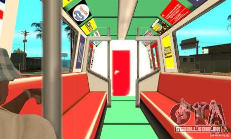 Liberty City Train Red Metro para GTA San Andreas vista direita