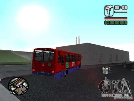 Busscar Urbanuss Pluss VW 17-230 EOD Alongado para GTA San Andreas vista traseira