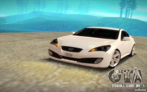 Hyundai Genesis 3.8 Coupe para GTA San Andreas vista direita