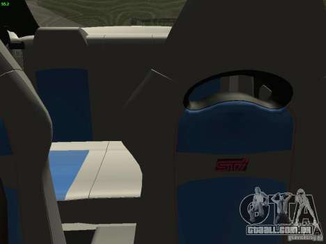Subaru Impreza 22b Tunable para GTA San Andreas vista interior