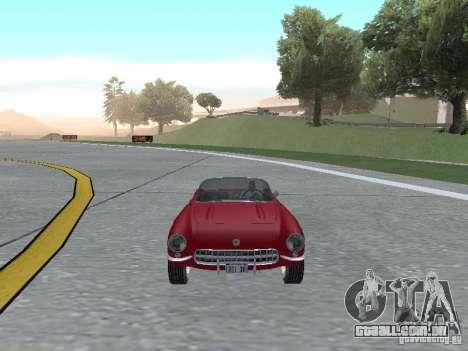 Chevrolet Corvette C1 para GTA San Andreas vista traseira