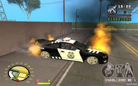Carro em chamas no GTA 4 para GTA San Andreas