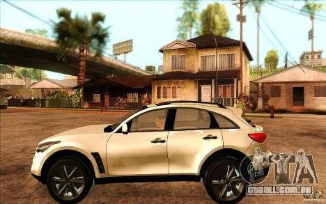 Infiniti FX50 Beta para GTA San Andreas esquerda vista