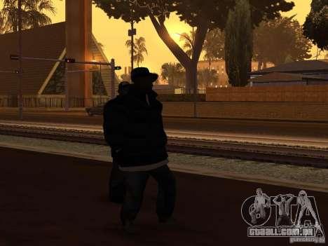 Roupas de inverno para Ballas para GTA San Andreas segunda tela