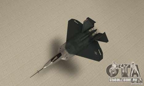 YF-22 Standart para GTA San Andreas vista direita