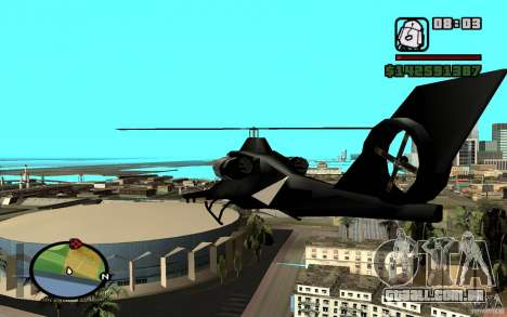 Urban Strike helicopter para GTA San Andreas vista direita