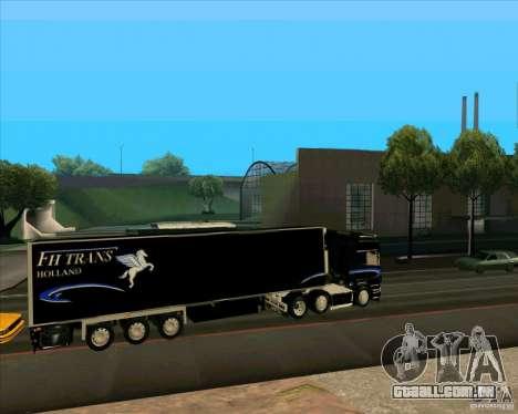 Reboque para a Scania R620 Pimped para GTA San Andreas esquerda vista