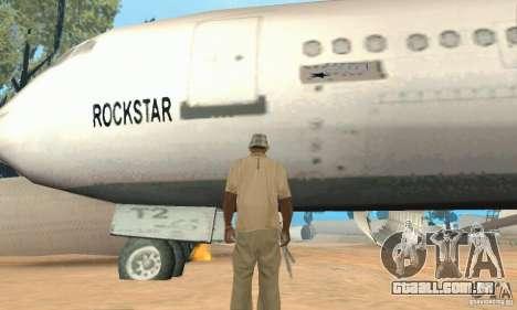 Um aeroporto abandonado no deserto para GTA San Andreas quinto tela