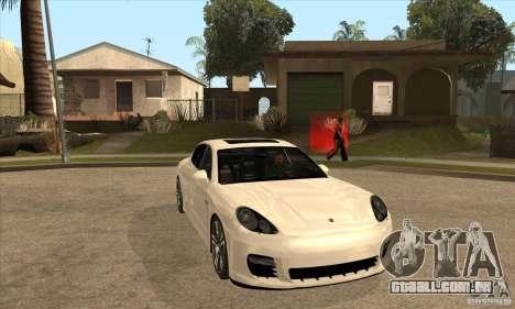 Porsche Panamera Turbo para GTA San Andreas vista traseira