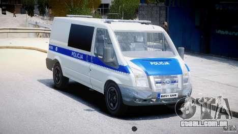 Ford Transit Polish Police [ELS] para GTA 4 vista direita