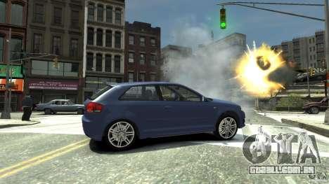 Audi S3 2006 v 1.1 não é tonirovanaâ para GTA 4 vista direita