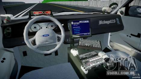 Ford Crown Victoria v2 NYPD [ELS] para GTA 4 vista direita