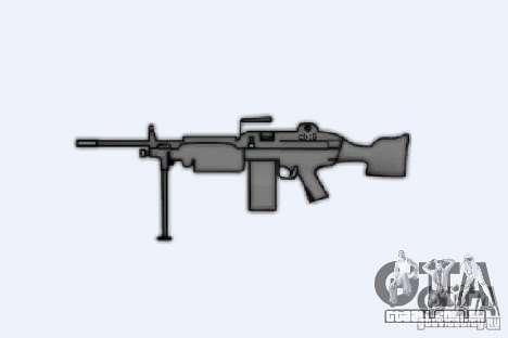 M249SAW metralhadora para GTA 4 por diante tela