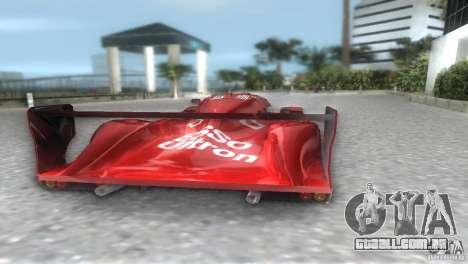 Toyota GT-One TS020 para GTA Vice City deixou vista
