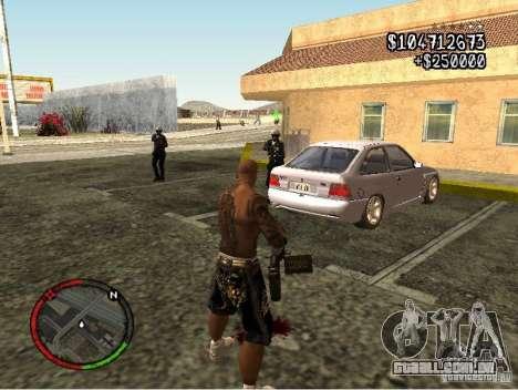 GTA IV HUD v1 by shama123 para GTA San Andreas por diante tela